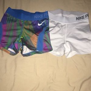 Like new nike pro shorts sizes xs